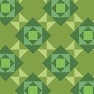 Pop Squares GREEN by BigFatArts