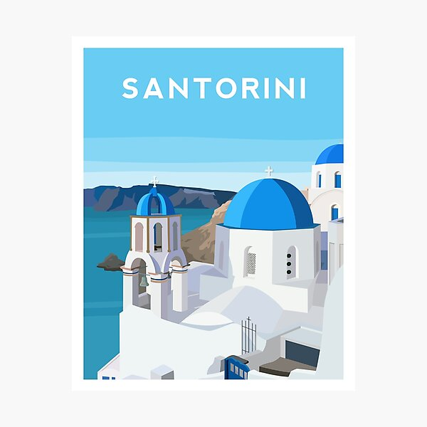 Santorini, Greece Photographic Print