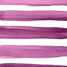Purple Watercolor Brushstrokes Pattern by blueskywhimsy