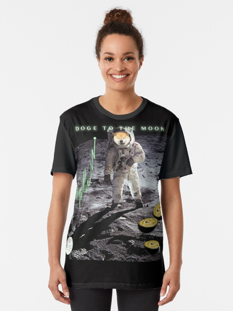 Alternate view of DOGE TO THE MOON Graphic T-Shirt