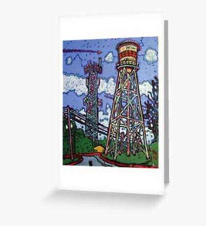 Penn Field Water Tower, Austin, Texas Greeting Card