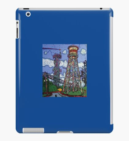 Penn Field Water Tower, Austin, Texas iPad Case/Skin