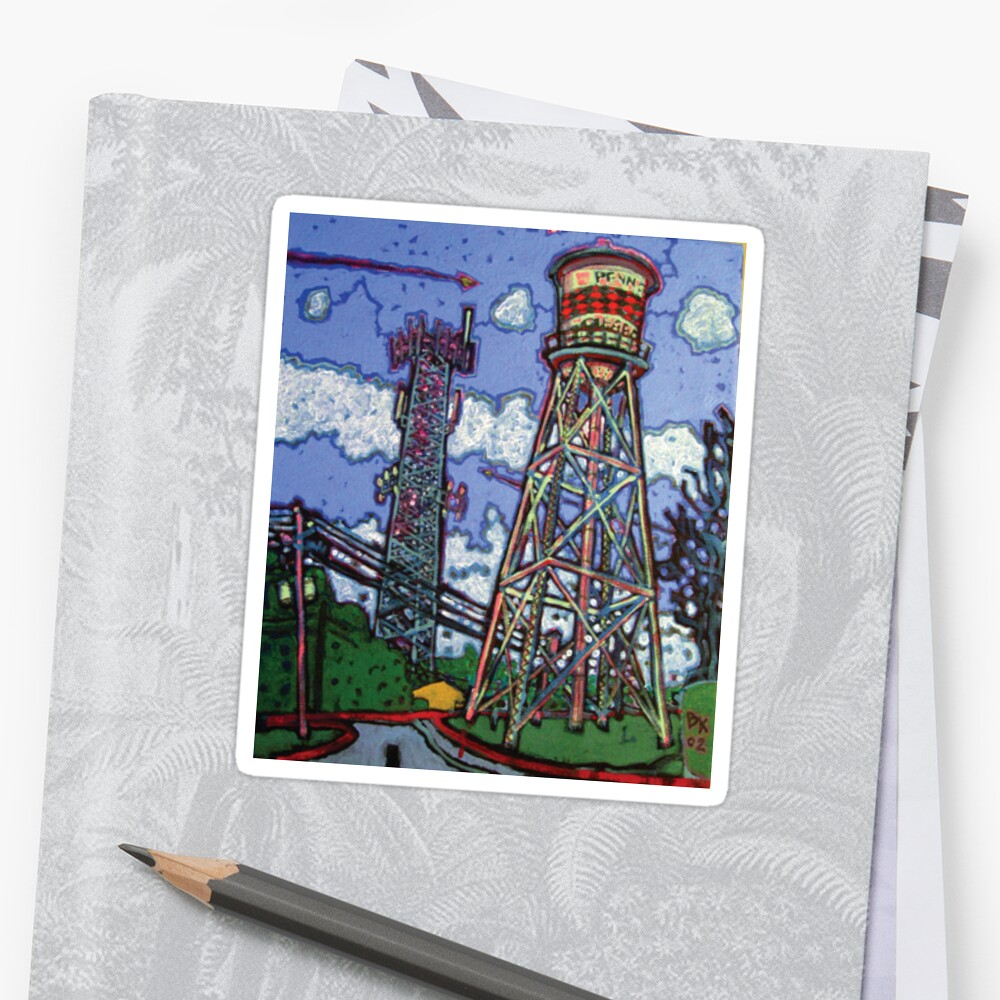 Penn Field Water Tower, Austin, Texas Sticker