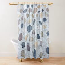 Minimalistic Gift - Stones and Pebbles Design Shower Curtain