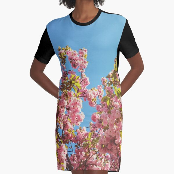 Floral Gift - Cherry Blossoms Photography - Gardener Present Graphic T-Shirt Dress