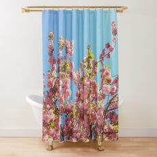 Mothers Day Floral Gift - Cherry Blossoms Photography Shower Curtain