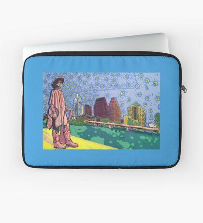 Stevie Ray Vaughan Statue, Austin, Texas Painting Laptop Sleeve