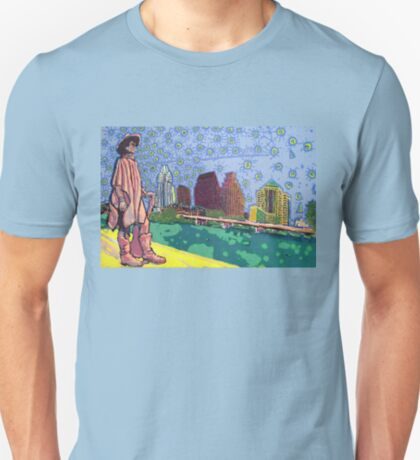 Stevie Ray Vaughan Statue, Austin, Texas Painting T-Shirt