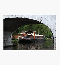 Houseboat on the Grand Union canal Photographic Print
