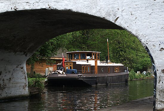 Houseboat on the Grand Union canal by Chris Day