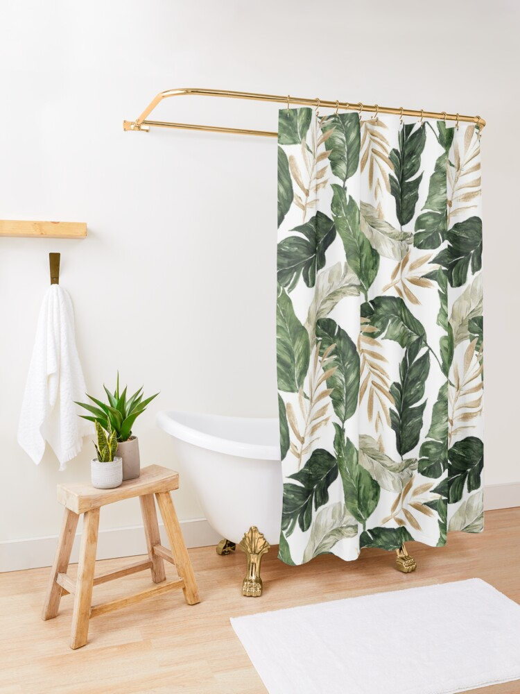 Alternate view of Palm Tree Shower Curtain
