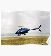 1980 Bell Helicopter Textron BELL 206B Poster