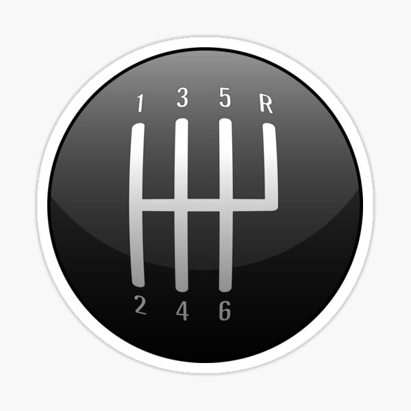 Classic Muscle Car /  Sports Car Shift Knob Sticker
