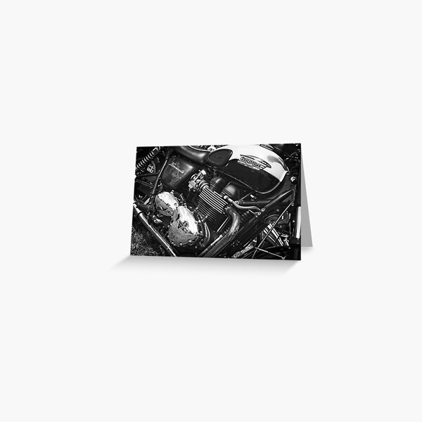 Triumph Bonneville Motorcycle Greeting Card