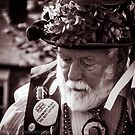 Bearded Morris dancer  by bywhacky
