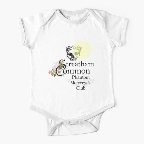 Streatham Common Phantom Motorcycle Club Short Sleeve Baby One-Piece
