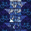 Geometrisches buntes Fahrrad Muster Design von masatomio