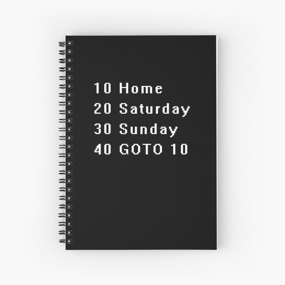 Computer, Basic, Weekend, GOTO Spiral Notebook