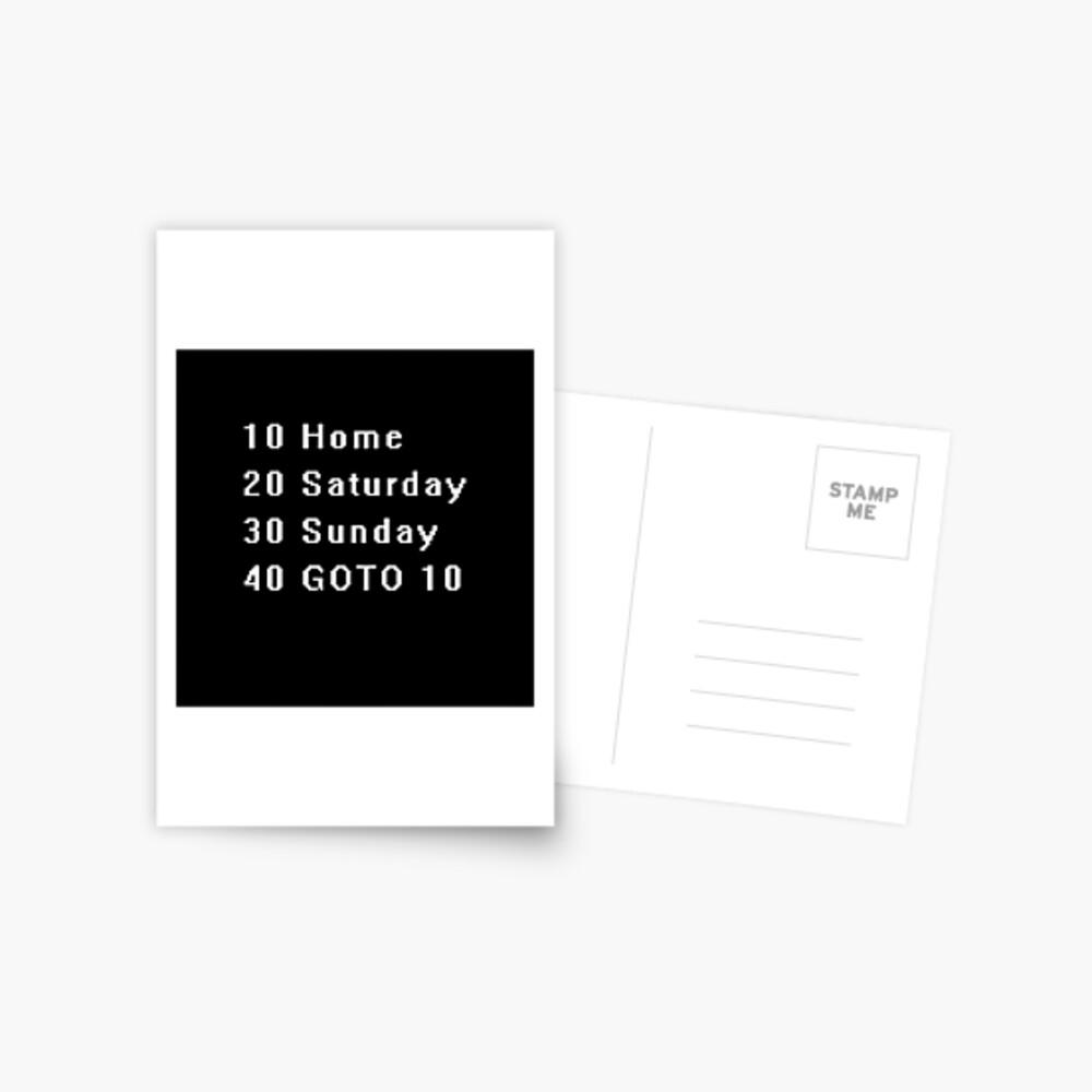 Computer, Basic, Weekend, GOTO Postcard
