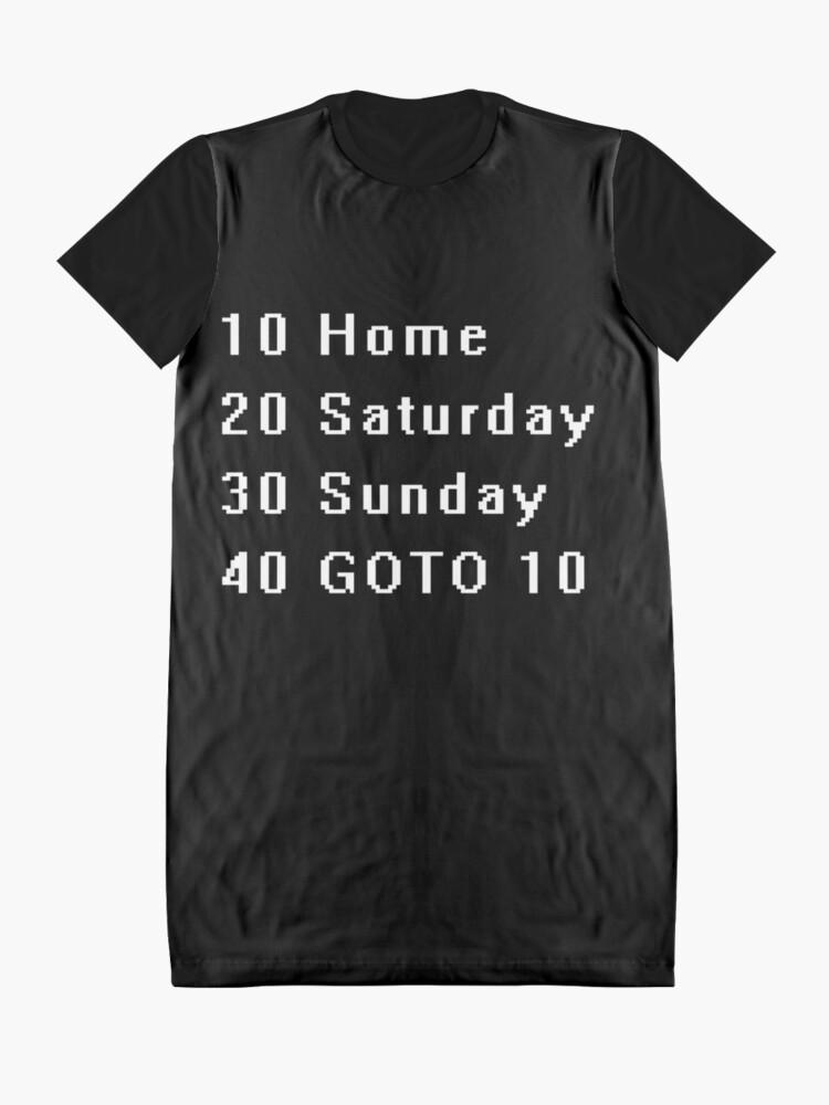 Alternate view of Computer, Basic, Weekend, GOTO Graphic T-Shirt Dress