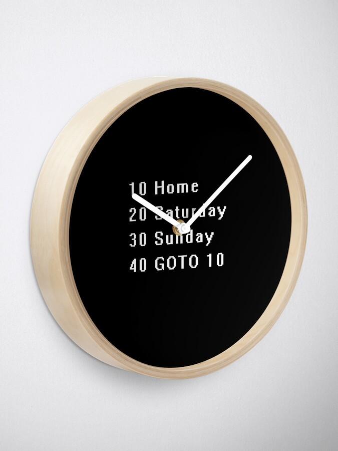 Alternate view of Computer, Basic, Weekend, GOTO Clock