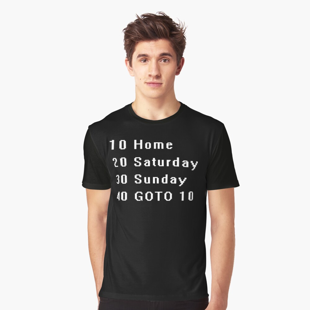 Computer, Basic, Weekend, GOTO Graphic T-Shirt