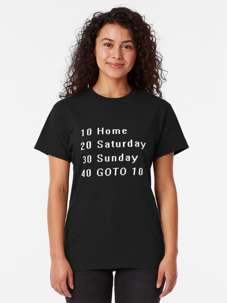Alternate view of Computer, Basic, Weekend, GOTO Classic T-Shirt