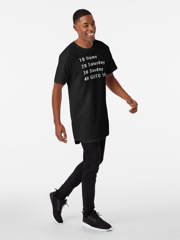 Alternate view of Computer, Basic, Weekend, GOTO Long T-Shirt