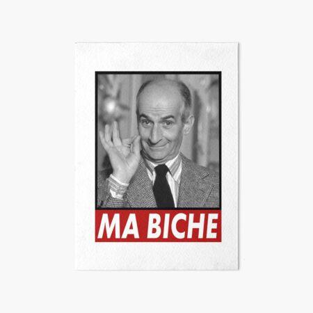 Louis de Funes Ma Biche Design Art Board Print