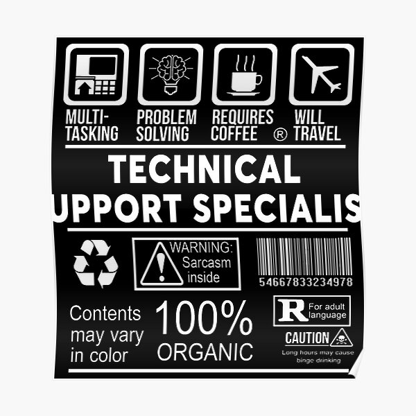 Technical Support Specialist Poster