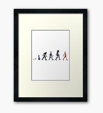 Evolution of The Cylon Framed Print