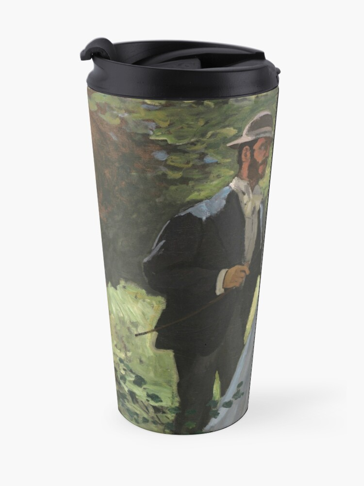 Alternate view of Bazille and Camille Painting by Claude Monet Travel Mug