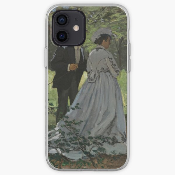 Bazille and Camille Painting by Claude Monet iPhone Soft Case