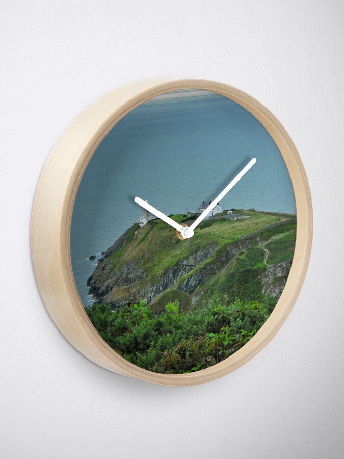 Alternate view of Howth Lighthouse - Ireland Clock