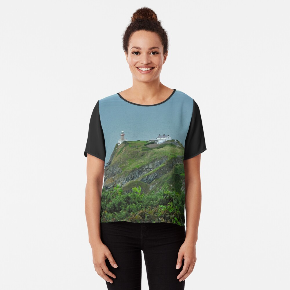 Howth Lighthouse - Ireland Chiffon Top