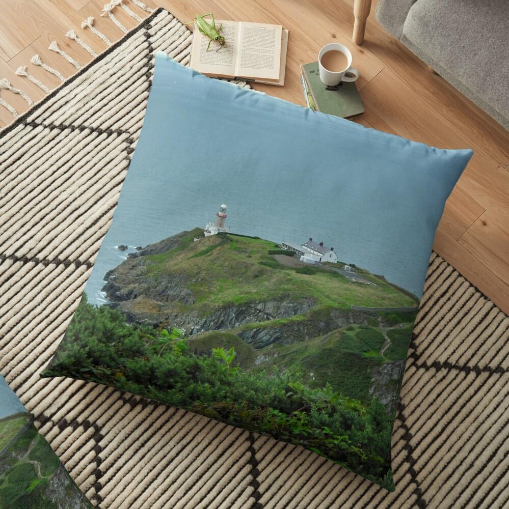 Howth Lighthouse - Ireland Floor Pillow
