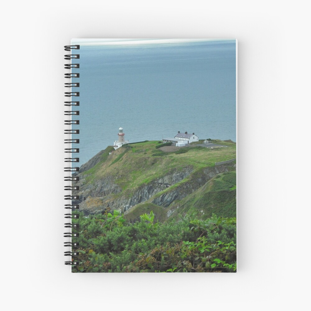 Howth Lighthouse - Ireland Spiral Notebook