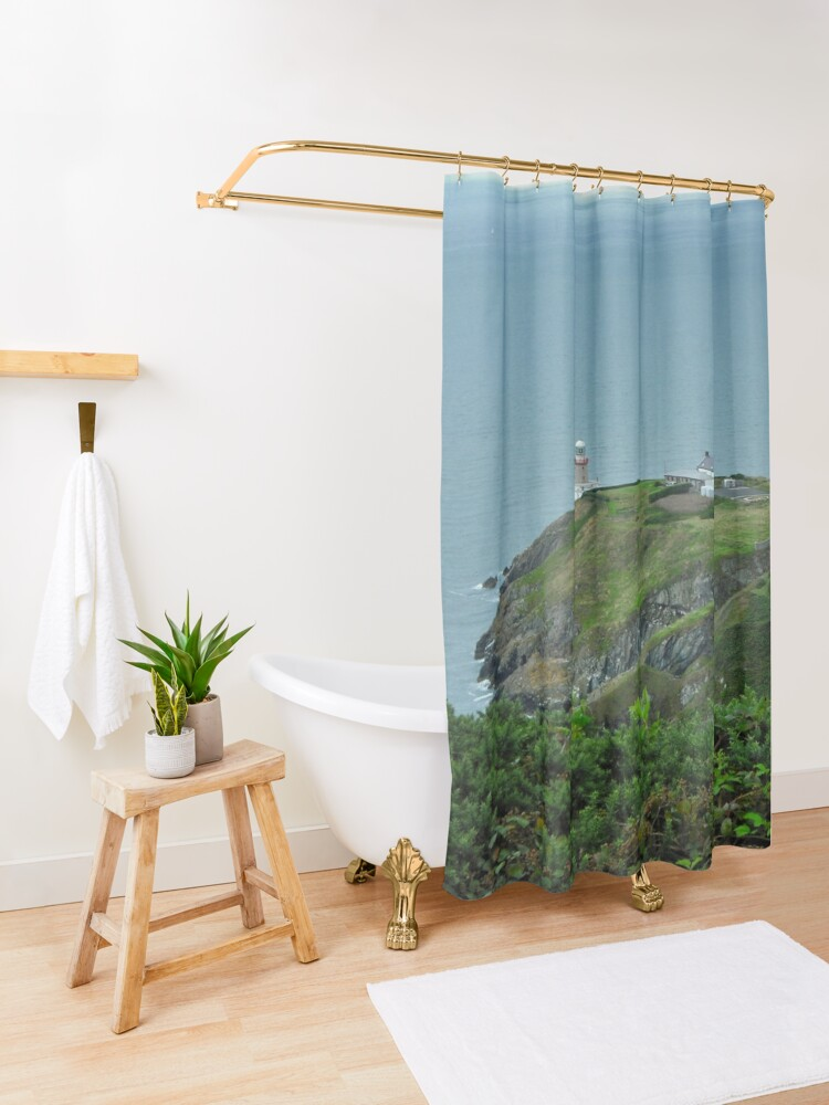 Alternate view of Howth Lighthouse - Ireland Shower Curtain