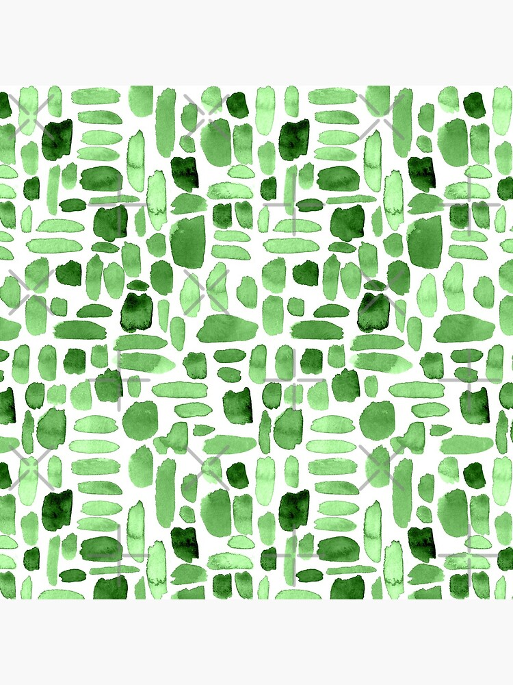Watercolor Paint Brush Stroke Pattern - Green by annieparsons