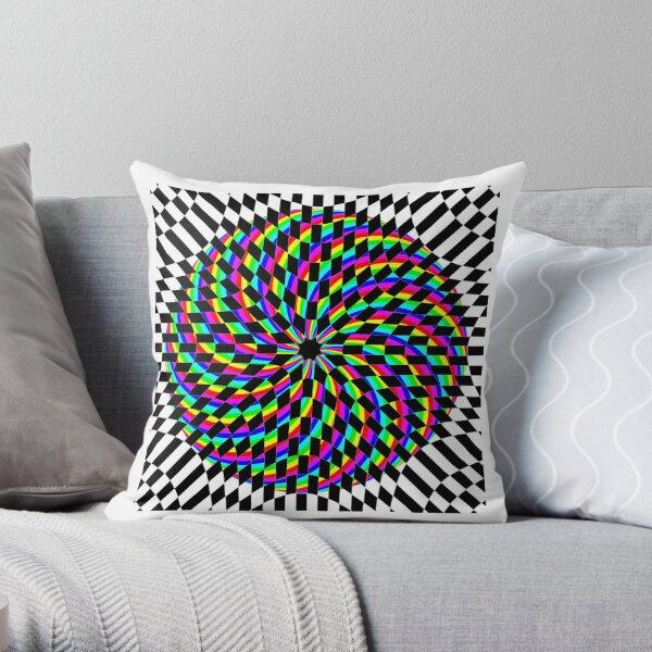 #Square #Multicolored  #Spiral #Rug, Symbol, Design, Illustration, sign, shape Throw Pillow