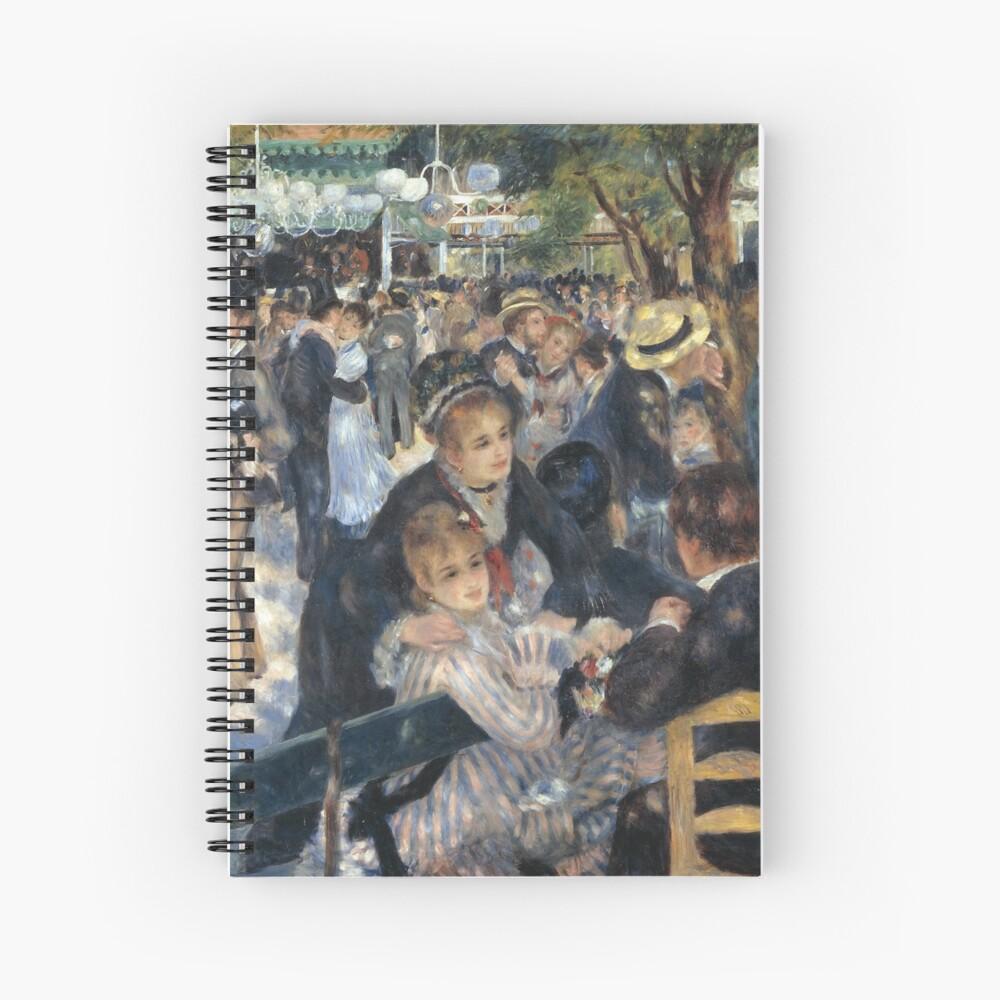 Bal du Moulin de la Galette Oil Painting by Auguste Renoir Spiral Notebook