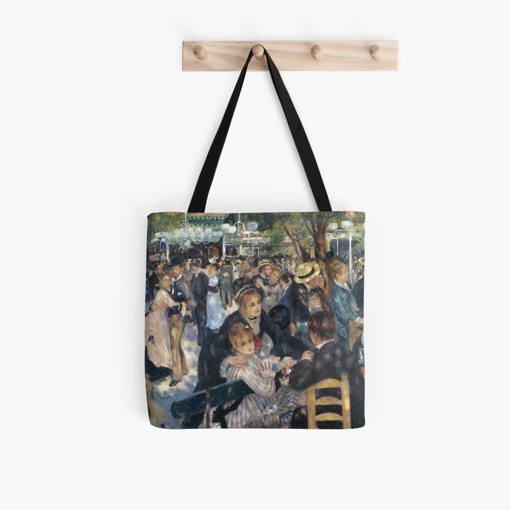 Bal du Moulin de la Galette Oil Painting by Auguste Renoir Tote Bag