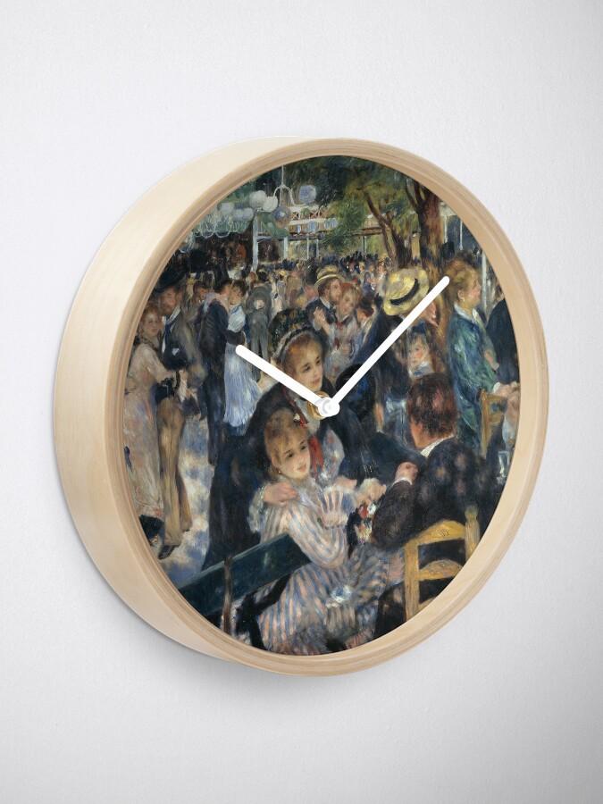 Alternate view of Bal du Moulin de la Galette Oil Painting by Auguste Renoir Clock