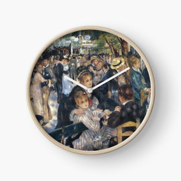 Bal du Moulin de la Galette Oil Painting by Auguste Renoir Clock
