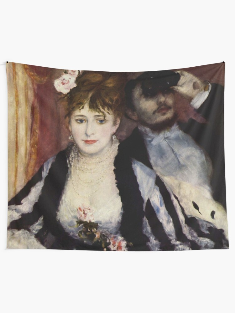 Alternate view of The Theatre Box -  La Loge Oil Painting by Auguste Renoir Tapestry