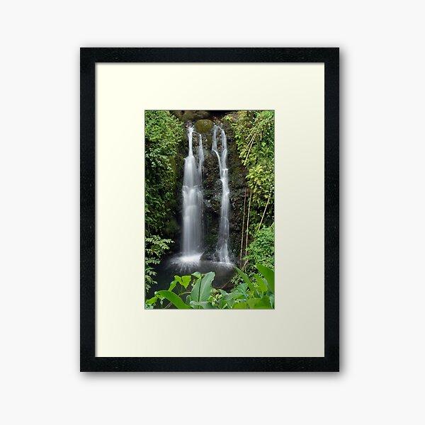 Double Waterfall Hana Maui, Hawaii Framed Art Print