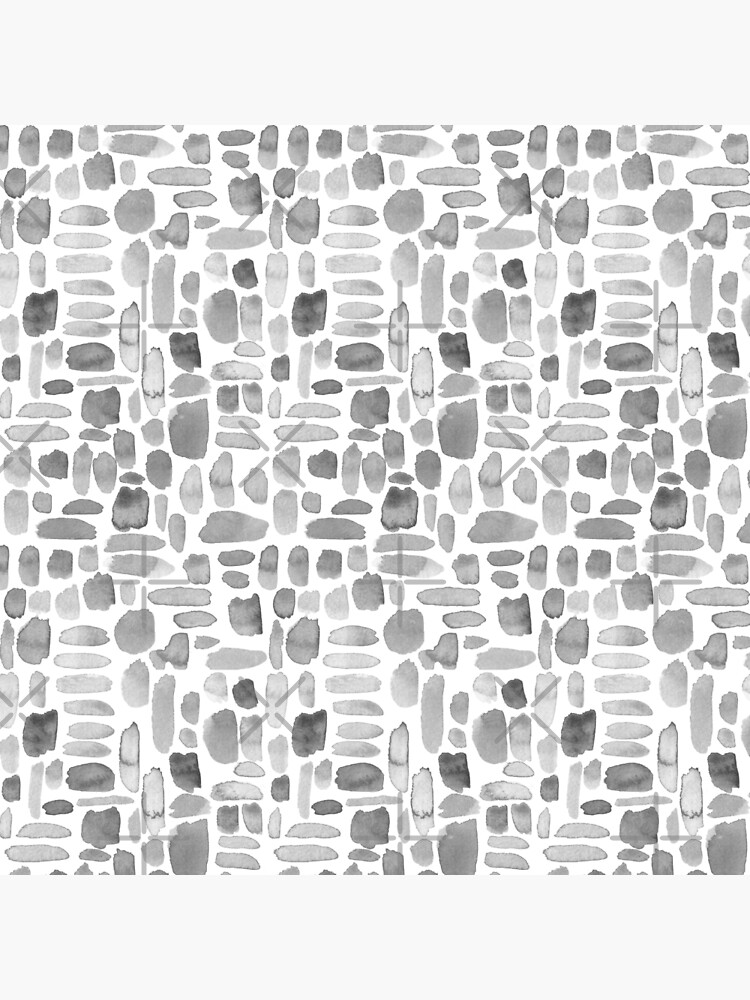 Watercolor Paint Brush Stroke Pattern - Gray by annieparsons