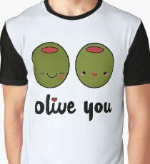 Olive Sie Grafik T-Shirt