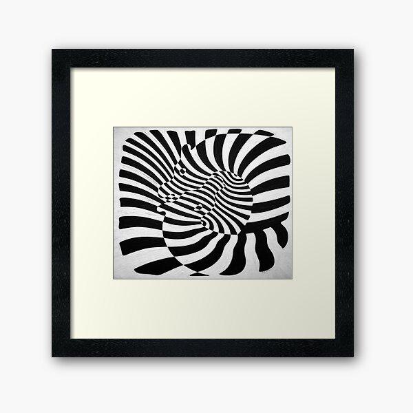 Zebras by Victor Vasarely Framed Art Print
