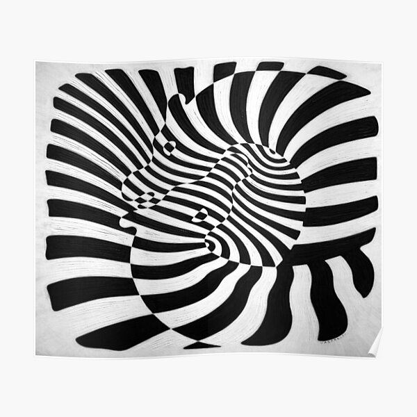 Zebras by Victor Vasarely Poster